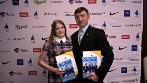 А. Мехиляйнен и тренер И. Новицкий